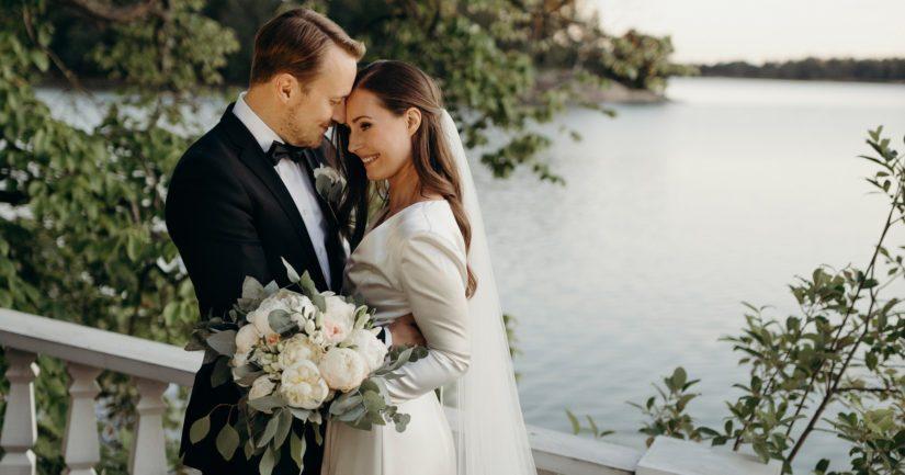 Sanna Marin ja Markus Räikkönen menivät naimisiin lauantaina 1. elokuuta.
