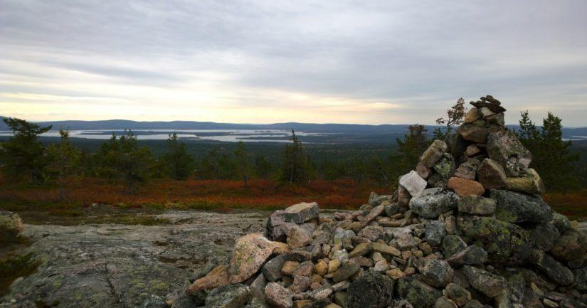 Särkitunturi on suosittu retkikohde Muoniossa, kymmenisen kilometriä Olokselta.
