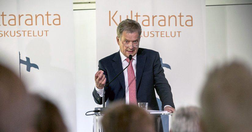 Tasavallan presidentti Sauli Niinistö isännöi 11.–12. kesäkuuta 2017 Kultaranta-keskusteluja,.