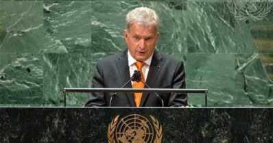 Sauli Niinistö puhui YK:n yleiskokouksessa – presidentti nosti esille Helsingin hengen