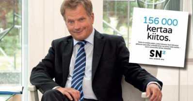 Sauli Niinistö keräsi vaadittavat kannattajakortit moninkertaisesti – kampanja alkaa joulukuussa