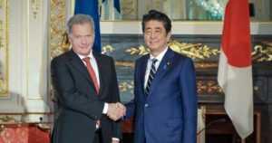 Presidentti Sauli Niinistö ja rouva Jenni Haukio Japanissa – kauppakeskusteluita ja Muumi-teemapuistoa