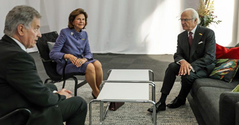 Presidentti Niinistö tapasi Malmössä myös Ruotsin kuningas Kaarle XVI Kustaan ja kuningatar Silvian, jotka olivat foorumin vieraina.