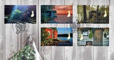 Rakkaita aiheita postimerkeissä – saunat, muumit ja Suomen vaakuna