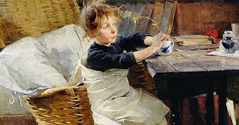 Kiertueelle lähtevä Helene Schjerfbeckin Toipilas on vuodelta 1888.