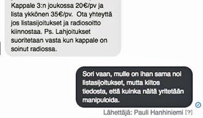 Pauli Hanhiniemi sai tarjouksen, mutta ei kiinnostunut. (Screenshot-kuva)