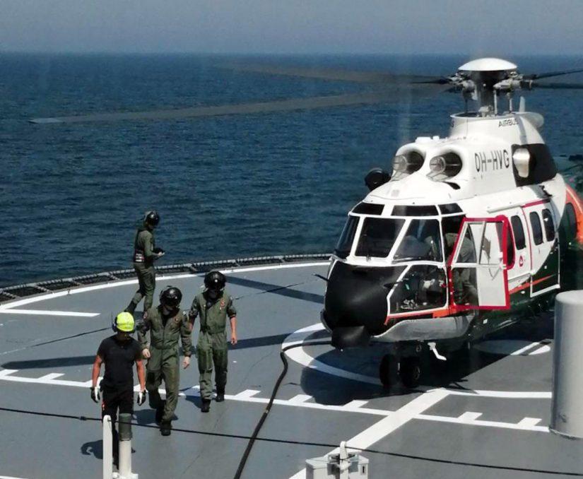 Suomella on harjoituksessa mukana Rajavartiolaitoksen helikopteri- ja erikoisvenekalustoa.