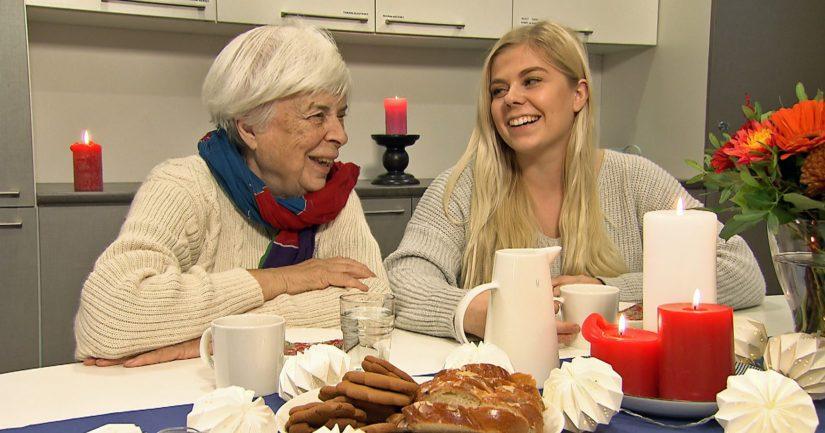 Pirkko Päivärinnan, 89, tukihenkilönä toimii Roosa Viitanen, 20.