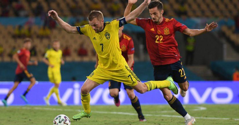 Ruotsi ja Espanja pelasivat EM-kisoissa maalittoman tasapelin (Kuva Aitor Alcade / UEFA)