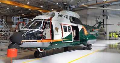 Rajavartiosto sai lisäkalustoa – ensimmäinen retrofit Airbus Helicopters H215 Super Puma Suomeen