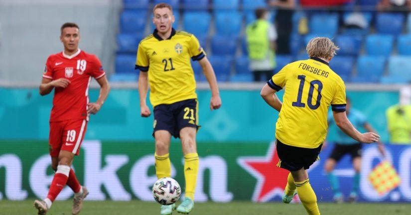 Ruotsi pudotti Puolan jatkosta jalkapallon EM-kisoissa (Kuva Joosep Martinson / UEFA)