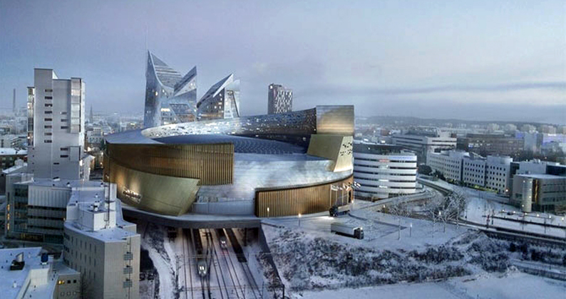 Jääkiekon 2022 MM-kisojen päänäyttämö tulee sijaitsemaan Tampereen rautatieaseman yläpuolella.