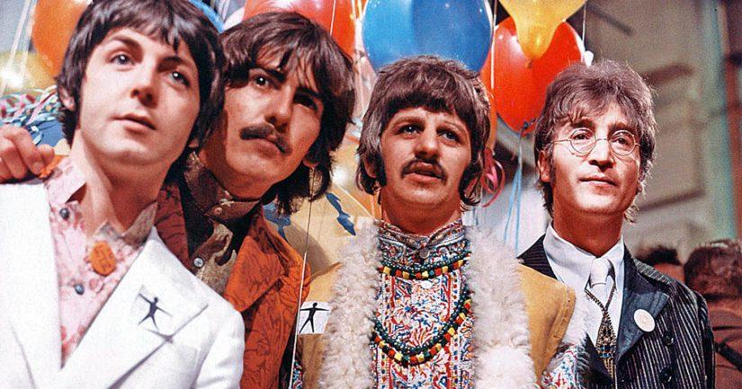 The Beatles eli Paul McCartney, George Harrison, Ringo Starr sekä John Lennon toimivat satelliittilähetyksessä rauhanlähettiläinä.