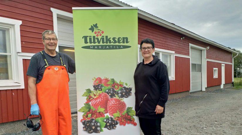 Yrittäjät Päivi ja Kalevi Tilvis kehittävät tilaansa asiakaslähtöisesti ja asiakkaiden toiveita kuunnellaan aina herkällä korvalla.