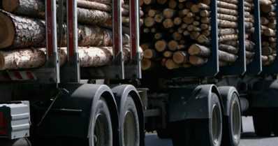 Puutavararekan lasti levisi tienvarteen – rekasta tai sen kuljettajasta ei ole tietoa