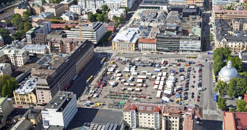 Toriparkki tulee sijaitsemaan Turun keskeisellä paikalla Kauppatorin alla.