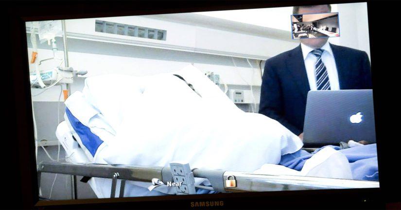 Turun iskun pääepäilty osallistui vangitsemisoikeudenkäyntiin sairaalasta videokuvan välityksellä.