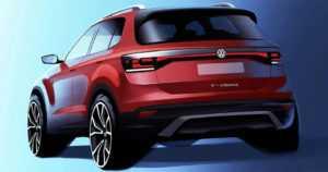 VW:n katumaasturivalikoima laajenee – merkki julkaisi ensimmäisen tiiserikuvan pikku-SUV T-Crossista