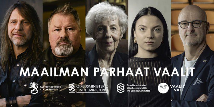 Kampanjassa ovat mukana Jone Nikula, Heikki Hursti, Tellervo Koivisto, Veronica Velho sekä Henrik Dettmann.