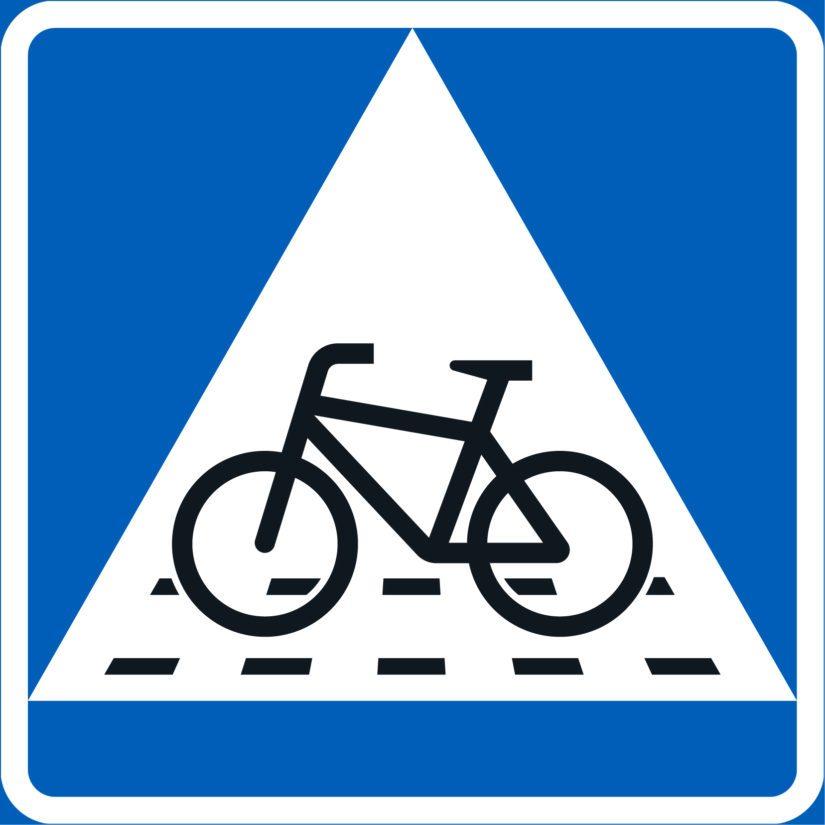 """""""Pyöräsuojatie"""" – väistämisvelvollisuus pyöräilijän tienylityspaikassa."""