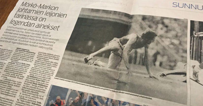 Lasse Virén kaatuu Jorma Poudan klassikkokuvassa, samalla sanomalehdet itse kaatoivat tekijänoikeuksia.