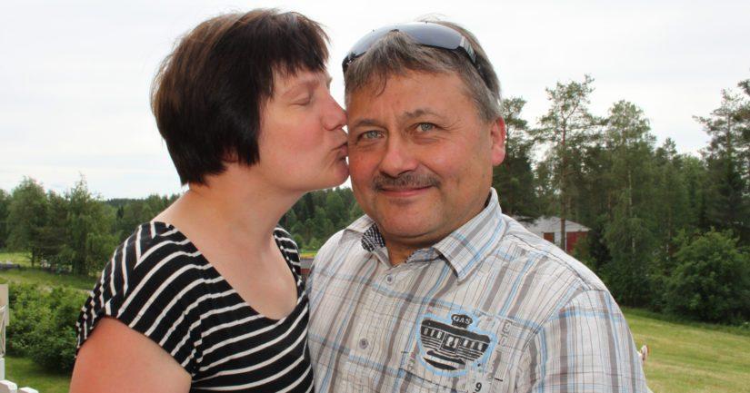 Virpi ja Reijo Kantonen ovat isännöineet Reijon kotitilaa vuodesta 1990 lähtien.