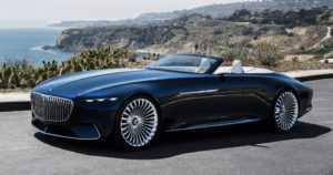 Eleganssia Kalifornian taivaan alla – lähes kuusimetrinen Mercedes-Maybach Vision 6 Cabriolet