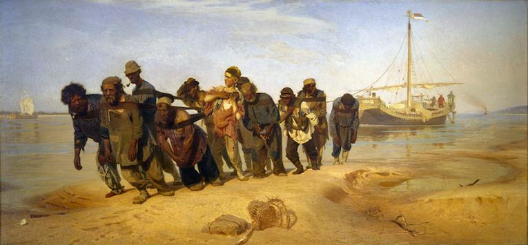Ilja Repin: Volgan lautturit (1870–1873).