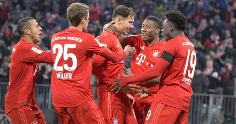 Bayern München juhlii maalia.