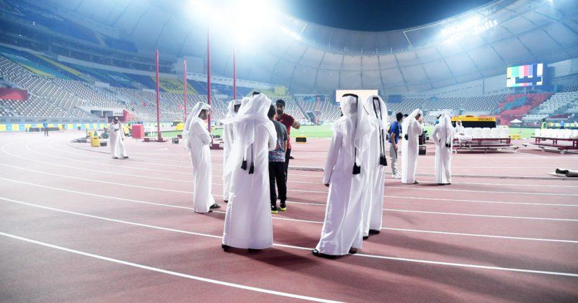 Dohan Khalifa-stadionia ei ole pystytty täyttämään edes ilmaislipuilla (Kuva: AOP)