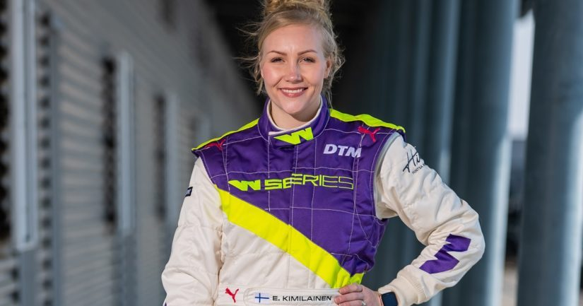 Emma Kimiläinen on W Series-formulasarjan historian ensimmäinen suomalaisvoittaja.
