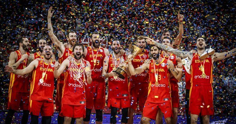 Espanja on miesten koripallon maailmanmestari 2019,