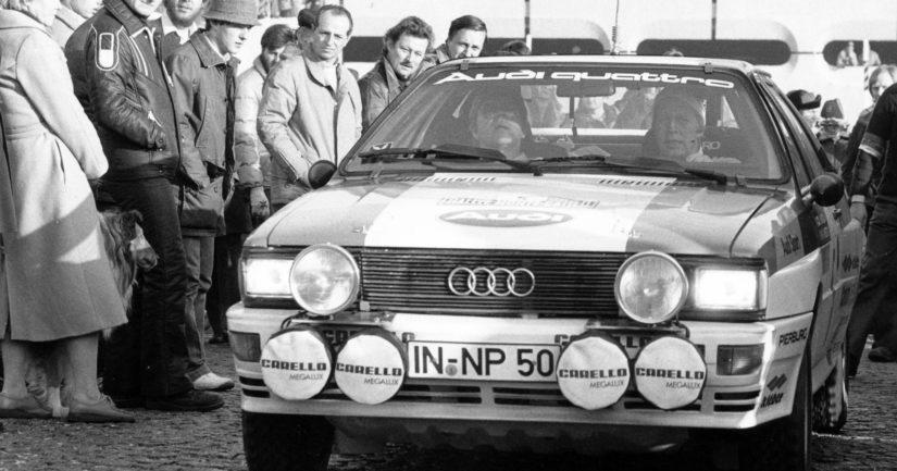 Hannu Mikkola voitti rallin maailmanmestaruuden 1983 legendaarisella Audi Quattrolla.