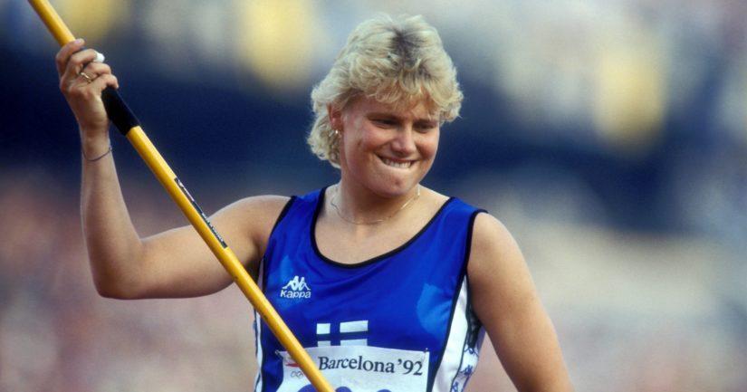 Heli Rantanen heitti Atlantassa 1996 olympiakultaa