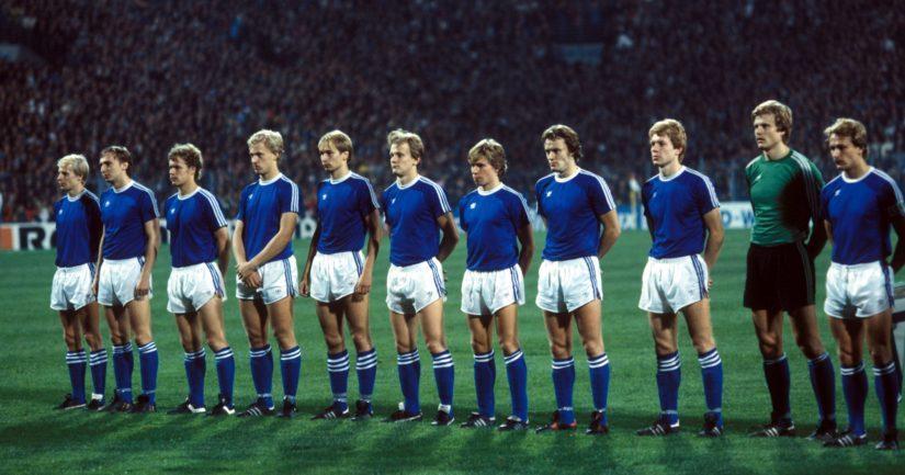 Suomen jalkapallomaajoukkue oli mukana Moskovan olympiaturnauksessa 1980 (Kuva: AOP)
