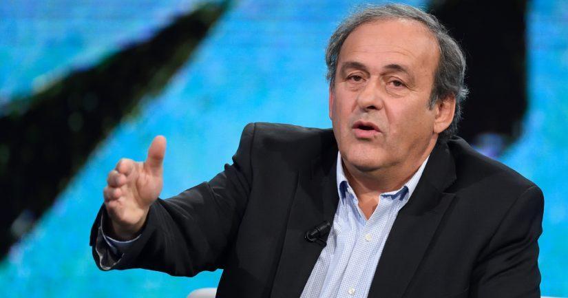 Michel Platini vei jalkapallon 2020 EM-kisat Rooman kautta Bakuun.