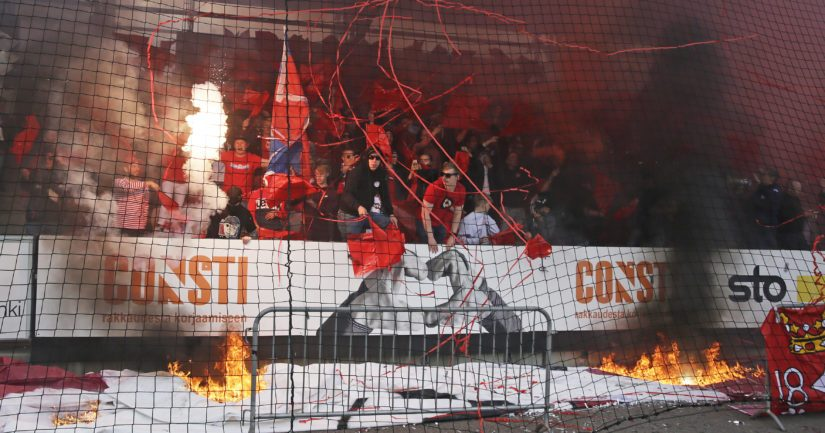 HIFK:n fanitifo syttyi Stadin derbyssä palamaan