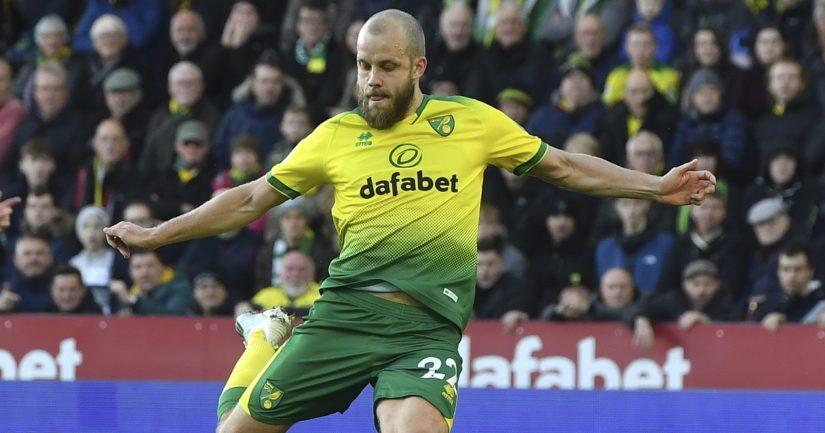 Teemu Pukki pelaa Valioliigassa Norwich Cityn joukkueessa.