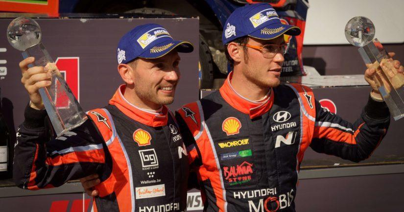 Thierry Neuville on Hyundai-tallin monivuotinen luottomies.